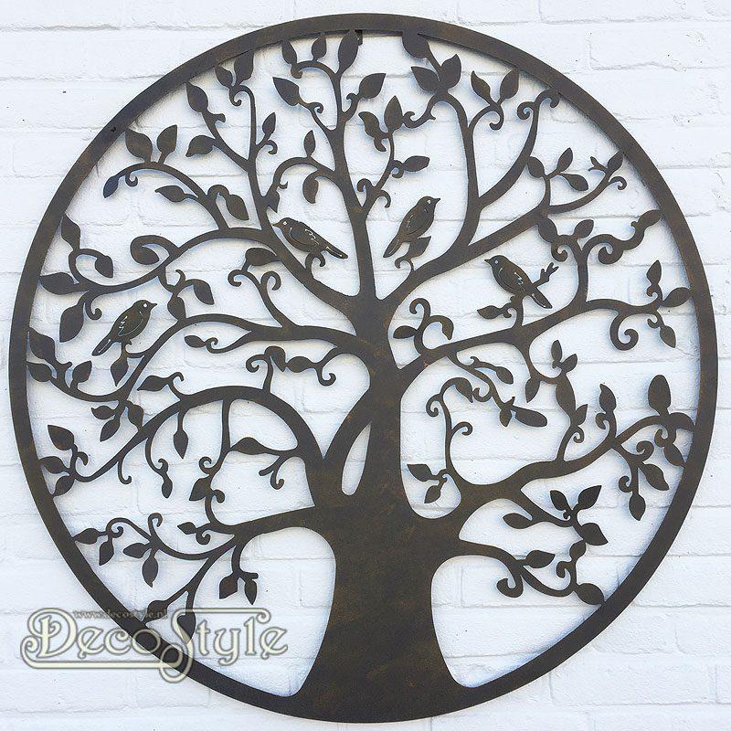 Wanddecoratie Buiten Metaal.Metalen Wanddeco Levensboom